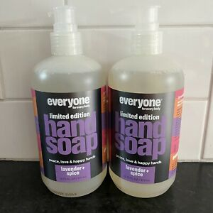 Lot 2 Everyone for Everybody Hand Soap LIMITED Lavender + Spice 12.75oz Each