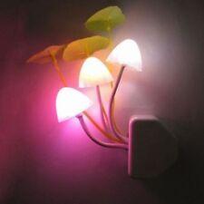 Mushroom Wall Night Light Romantic EU Plug  Illuminations LED Bed Lamp TOP