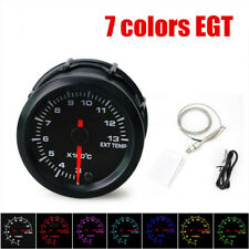 "2"" 52mm Car Exhaust Gas Temp Gauge LED 7 colors EGT Temperature Meter + Sensor"