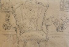 ARIE LUBIN (1897-1980), Ink on Paper, Still Life, Signed, ARYEH ARIEH