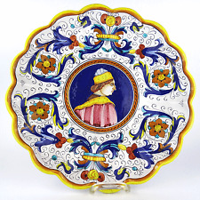 alte Deruta Majolika Schale Renaissance Edelmann Ricco Fayence Raffaellesco Bowl