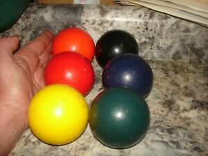 "6 Sportcraft  replacement Croquet Balls  multi color lot 8  1/2"" around bin 833"