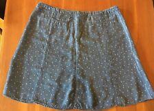 SPORTSCRAFT Blue White Polka Dot Marika Lightweight Soft Lyocell Flip Skirt 20