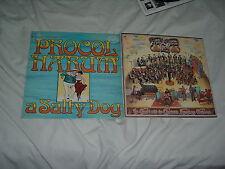 PROCOL HARUM A Salty Dog UK RED label IMPORT + Edmonton 2LP lot pre-TROWER 2LP