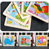 Baby Kids 3D Wooden Cartoon Animal Puzzle Game Educational Development Toys Gift