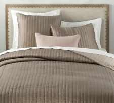 Bella 'Lux Fine Linens' 100% Cotton Brownstone Quilted Coverlet Queen, Nwt $575