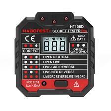 1 x AC 110V-230V Socket Tester Digital Display EU Plug In Electric Fault Checker