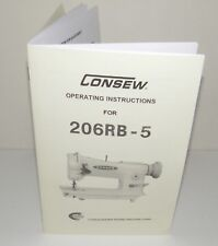 Consew 206RB-5 Sewing Machine Instruction Manual Reproduction