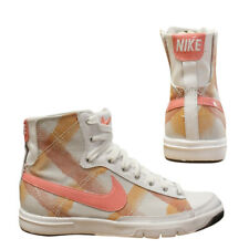 8f83935bafba Nike Blazer Mid Womens Suede Trainers Leather White Peach 313722 082 D4