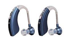 2 Pack - Digital AID Hearing Amplifier Kit by Britzgo B-220D Blue (Best Seller)