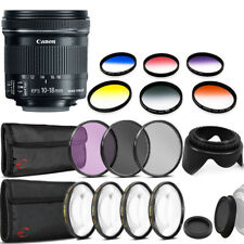 Canon EF-S 10-18mm f/4.5-5.6 IS STM Lens for Canon SL1 SL2 with Accessory Bundle