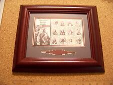 American Indian Chiefs Grenada stamp set wood framed frame Sitting Bull Grass