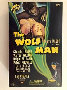 """SIDESHOW UNIVERSAL MONSTER THE WOLFMAN LARRY TALBOT LON CHANEY JR 12"""" 1/6 FIGURE"""