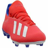 adidas X 18.3 Firm Ground Mens Soccer Cleats     - Red