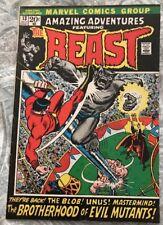 Amazing Adventures (1970) #13  BEAST, Brotherhood Of Evil Mutants VG/FN MARVEL