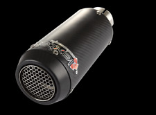 Lextek CP9C Carbon Fibre Exhaust End Can 51mm Slip On  Loud
