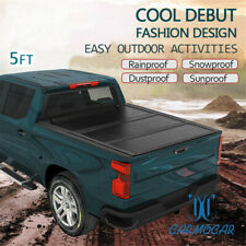 5FT TRI-FOLD FOR 2005-18 NISSAN FRONTIER SHORT BED FRP HARD SOLID TONNEAU COVER