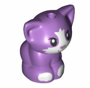 LEGO Friends Baby Cat Kitten Sitting Animal Minifigure (Medium Lavender)