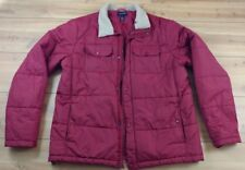 Lands End Men's Sherpa Collar Jacket Extra Large Tall Red Nylon LT
