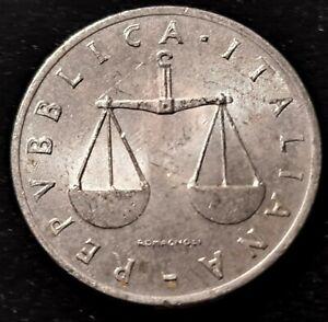 1954 Italy 1 Lira Nice Coin