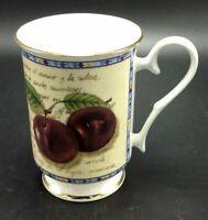 Vintage Royale Garden Footed Tea Cup Bone China Fruit Hand Gold Trim  England