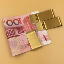 Wholesale Lots Man Blank Brass/copper Gold money Clip Fashion Gift Free Shipping