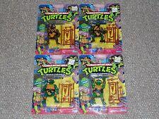 1989 Teenage Mutant Ninja Turtles TMNT Set of 4 MOC New Original Figures 20 Back