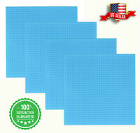 "4 Cyan Baseplate 10"" x 10"" 32x32 Classic Bricks Building Base Plates Major Brand"