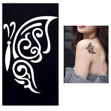 Body STENCIL per tatuaggio tattoo temporaneo colori henné FARFALLA TRIBAL 5x9cm