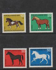 Alemania Occidental estampillada sin montar o nunca montada sello Deutsche Bundespost 1969 SG1478/1481 bienestar infantil