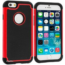Apple iPhone 5S 5C 6 / 6S 7 Plus & SE Hybrid silicone Rubber Hard Case Cover