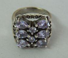 Anello in Argento 925 con pietre lilla vintage OMA19
