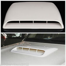 3D White Simulation Car Air Flow Intake Hood Scoop Vent Bonnet Decor Cover Decal