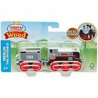 Fisher-Price Thomas & Friends Wood Merlin the Invisible Engine Train Set NEW