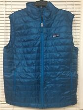 Patagonia Nano Puff Vest Mens Large Big Sur Blue Primaloft Insulated New