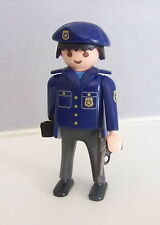 PLAYMOBIL (K2133) POLICE - Homme Officier Tenue Bleue Camion Fourgon 3166