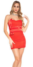 H57 Sexy KouCla Bandeau Spitzenkleid Kleid Minikleid Abendkleid Cocktail XS-M