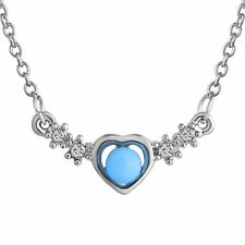Charm Fairy Glow in the dark Heart Choker Crystal Statement Bib Necklace Pendant
