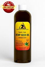 HEMP SEED OIL UNREFINED ORGANIC CARRIER VIRGIN COLD PRESSED RAW PURE 12 OZ
