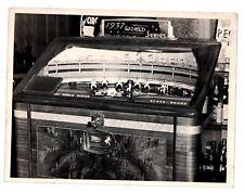 1937 Baseball World Series Pin Ball Machine 7x9 Vintage Photo w/LOA