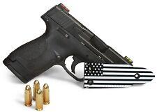 QuickDraw - Black & White Flag - Gun Magnet Mount Holster Holder Handgun Glock