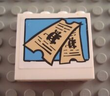 LEGO White 1x4x3 Spongebob Bus Ticket Wall Panel Piece