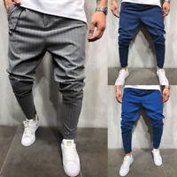 Men's Twill Jogging Pants Jogger Urban Hip Hop Harem Slim Fit Casual Trousers