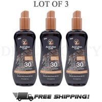 Australian Gold Instant Bronzer Spray Gel Sunscreen SPF 30 8 Fl Oz - Lot of 3