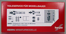 Herpa LKW  080989  LKW-Fahrgestell Mercedes Actros 2-achs mit Radsätzen (7,45m)
