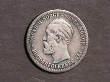 NORWAY 1887 50 Ore Silver