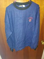 Cleveland Indians Baseball Embroidered Chief Wahoo Long Sleeve T-Shirt NEW