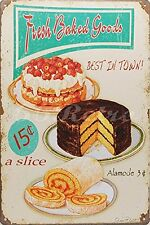Fresh Baked Goods Best in Town!, Metal Tin Sign, Wall Decorative Sign by 66retro