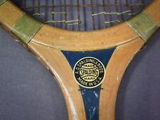 Nice 1930s Vintage Spalding Tennis Racquet - Royal Model - Good Colors