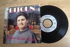 45 tours Bitoun Miam-miam-miam / Je voudrais faire du cinéma 1986 VG+/EXC